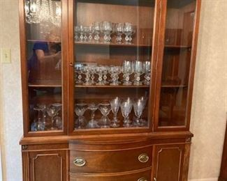 Vintage Drexel Mahogany Georgian Style China Display Cabinet