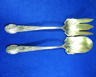 Tiffany Sterling Salad Servers in the Renaissance Pattern