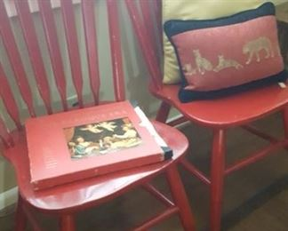 Two bentwood back chairs