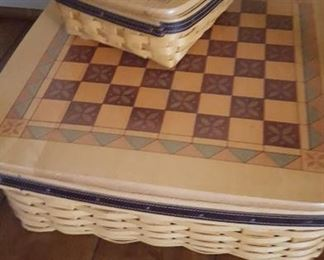 Longaberger checkers baskets
