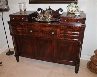 #1 - Antique Watkins Bros. Classical Mahogany Sideboard