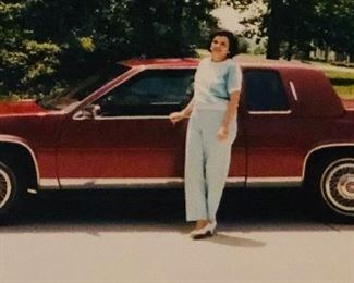 Beautiful 1986 Coupe DeVille  Cadillac with the previous owner. Her pride and joy!