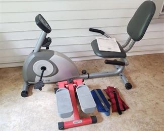 Stamina 1350 Magnetic Recumbent Excercise Bike, Walking Stepper and Ankle Weights