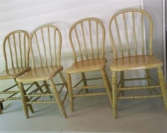 (4) Painted Bent Wood Chairs