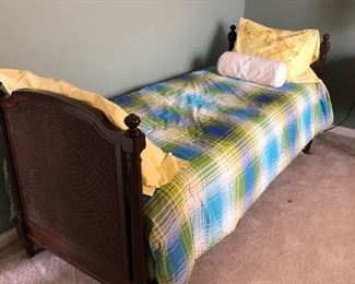 Nun's Bed, Convent Bed, Antique Dark wood, Fits a Twin Mattress 30.75w x 35h BUY IT NOW WITH OR WITHOUT MATTRESS $180