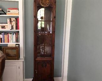 Detail carved Mahogany tall case clock
