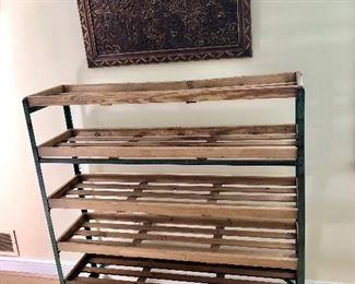 """$225 Single baker's rack on casters 48""""W by 14""""D by 49""""H"""