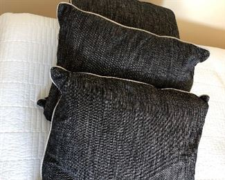 "$120 Set of 3 pillows 22"" x 18"" Down"