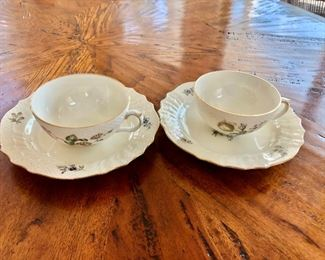 $120 Cups and saucers Detail Royal Copenhagen cups and saucers total 12