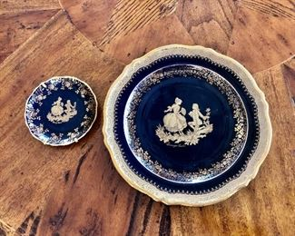 $30 Large plate, $15 small plate Limoges china