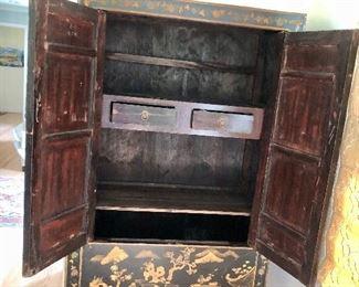 Detail inside of cabinet