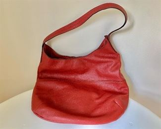 $150  Mario Hernandez red leather purse
