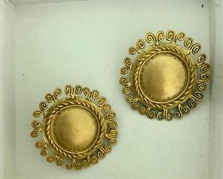 $20 Pre Colombian replica/design earrings  1 3/8 diameter