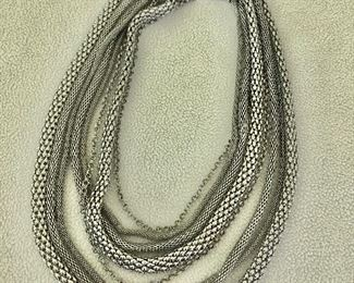 $35 Multi strand necklace  22  inches long