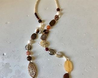 """$50 Stone necklace 36"""" Long"""