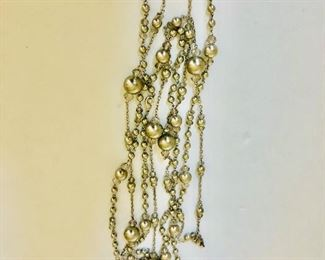 $25 each Extra long silver tone necklaces 2  50  inches long