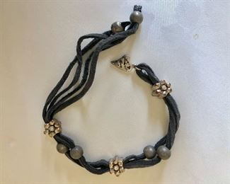 """$20 knotted bracelet with beads  8"""" long"""