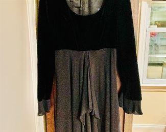 $100 Escada black velvet evening dress  Size 6