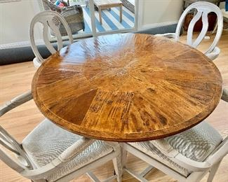 $1600 Random Harvest  Inlay Pedestal Table