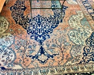"FIRM PRICE! $6500  FIRM!!!! Antique Farahan Sarouk Rug 13'7"" by 10'5"""