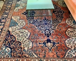 "Antique Ferahan Sarouk carpet 13'7"" by 10'5"""