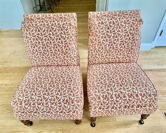 FIRM $635 FIRM!!!   Pair  Lillian August Kellogg Collection  chairs