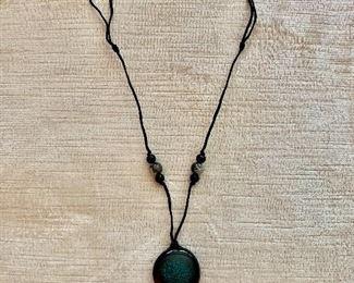 $20 Blue stone medallion necklace