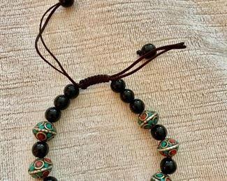 $20 Turquoise beaded stretchy bracelet