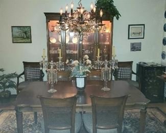 Formal Dining Room - dining table & Chairs, China cabinet & Buffet Serves all made by White Fine Furniture Co.