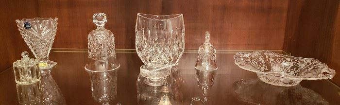 Baccarat Small Vase - Crystal Bells - Master Salt and Cut Glass Small Bowl