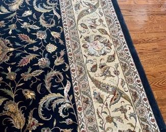 """Jaipur hand-knotted wool & silk rug, made in India, 12'1"""" by 17'9"""""""