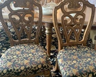 Set of 6 Michael Amini chairs, priced separately from the table