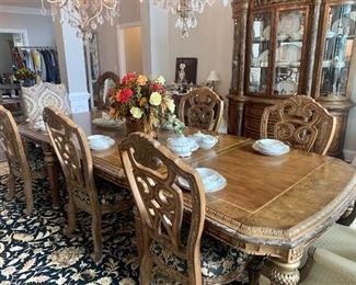 Michael Amini dining room furniture, all pieces priced separately
