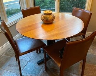 Cherry table($500) and chairs ($25 each)