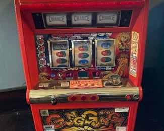 slot machine! From Japan. Turns on but may need work