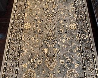 Total of five matching rugs, 2 like this, 2 round and 1 runner. Like-new!