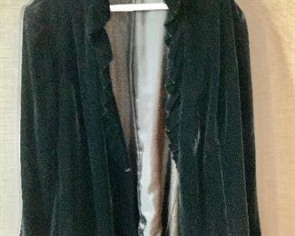 $40 - Lafayette 148 Black Velvet jacket.  Size 22