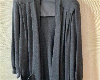 $65- St. John black knit long sweater.  Size L