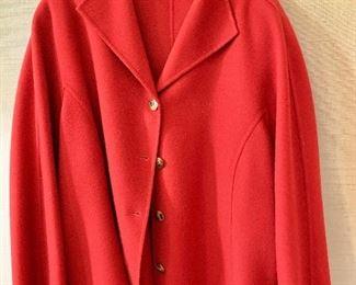 $40 - Linda Allard for Ellen Tracy red wool jacket.  Size 22