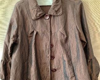 $40 - Caribe dark brown high quality polyester jacket.  Size 1X