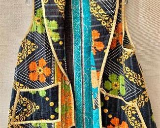 $50 - Reversible quilted cotton vest. Estimated size XL/XXL