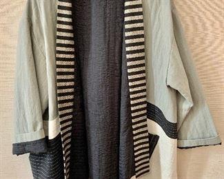 $40 - Juanita Girardin cotton quilted jacket.  Estimated size 1X/2X.
