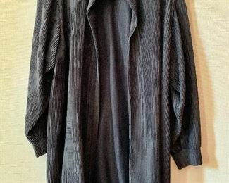 $50 - The Bonnie Roseman Collection black pleated fabric jacket.  Estimated size XL.