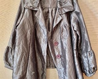 $40 - Caribe high quality polyester pewter jacket.  Size 1X.