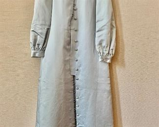 $90 -Marita by Anthony Muto (Claire Dratch) silver coat dress with matching belt.  Size 10
