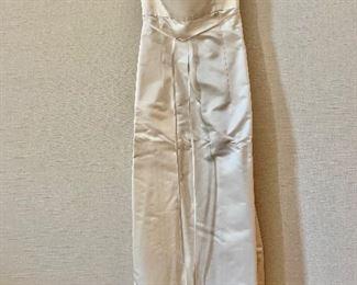 $50 -Morgane Le Fay designed by Liliana Casabal silk floor length ivory dress.  Size M.