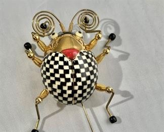 "$80 Jewelry-10 beetle stick pin.  2.5""H x 2.5""W"