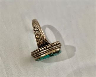 $95 Detail; side view.  Sterling silver ring.  Approx. size 8