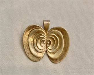 """$40 Daniela Hoffmann Designs 2001, signed, sterling silver pendant/pin (two available). 1.25""""H x 1.25""""W"""