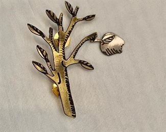 "$18 Apple tree bracelet, signed. 3""L"